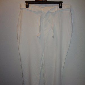 Nine West Belted Tapered Ankle Pants XXL